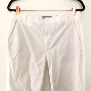 Vince Linen Blend Ankle Crop White Pants Size 10